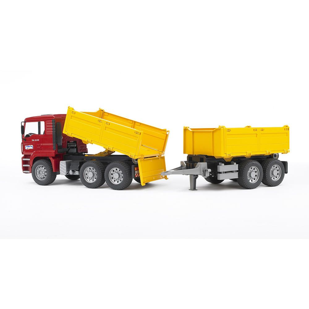 Bruder Construction Toys : Bruder man construction truck with trailer toys