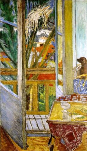 The door window with dog - Pierre Bonnard. You can almost feel the shimmering heat coming in from the garden