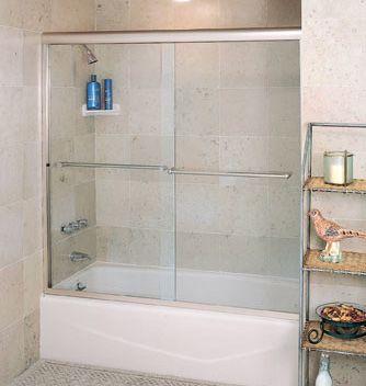 semi-frameless-sliding-doors-for-tubs | Shower Power | Pinterest ...