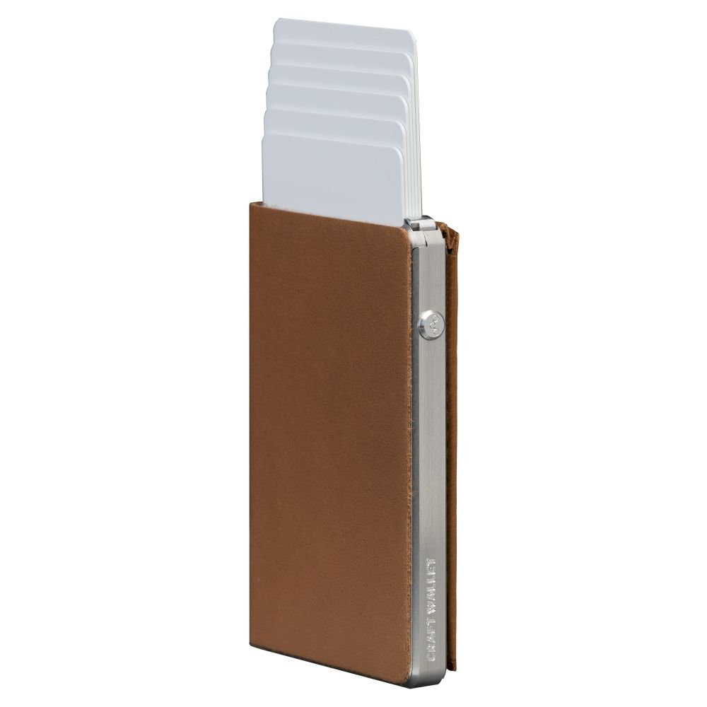 Minimalist Rfid Blocking Leather And Aluminum Wallet Adapt2go