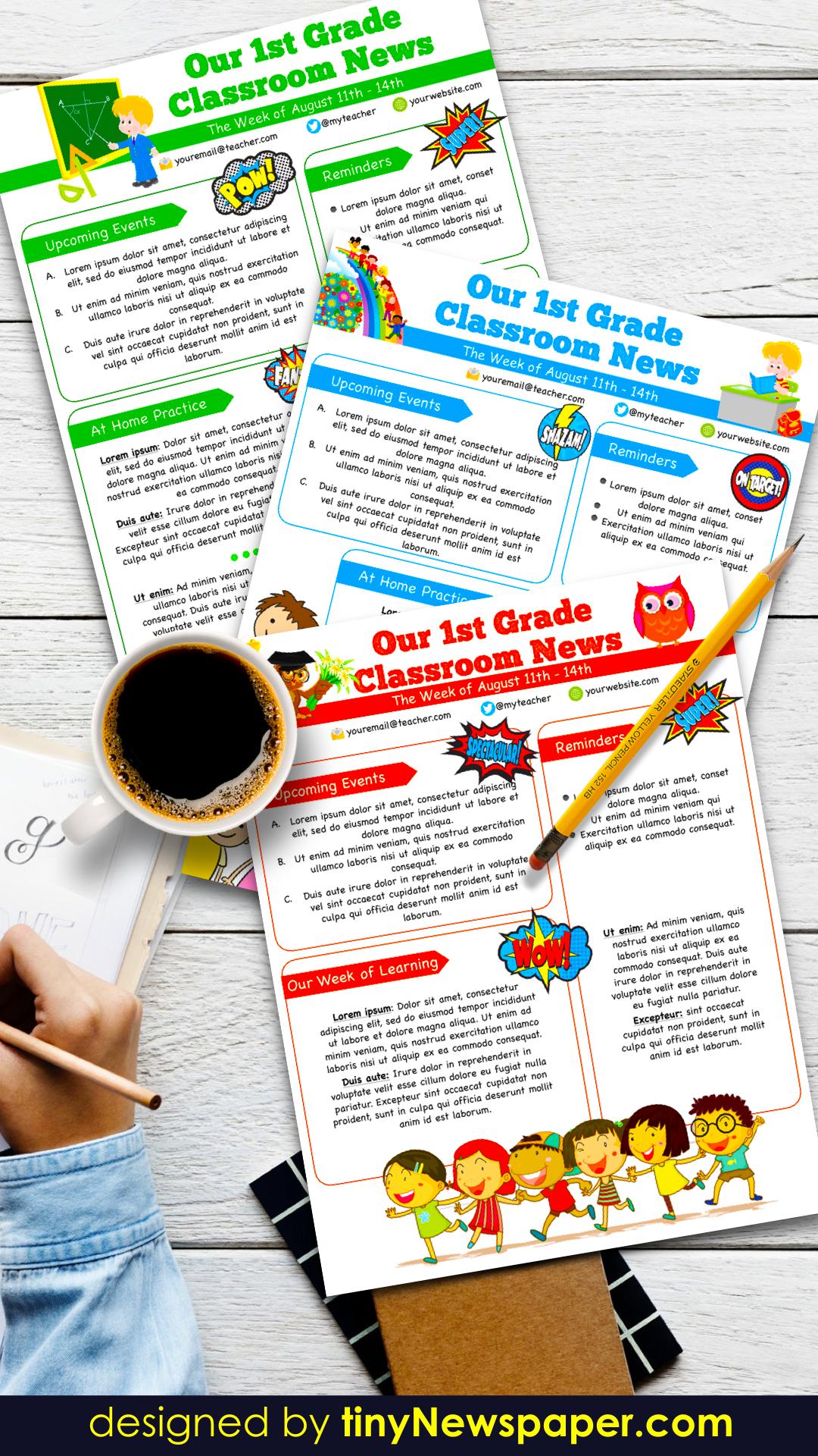 Google Slides Newsletter Template Free Newsletter Template Free Editable Newsletter Templates Newsletter Templates