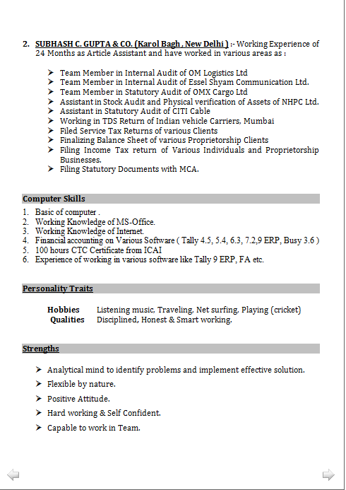 Resume Format For Tally Erp 9 | Pinterest | Resume format, Resume ...