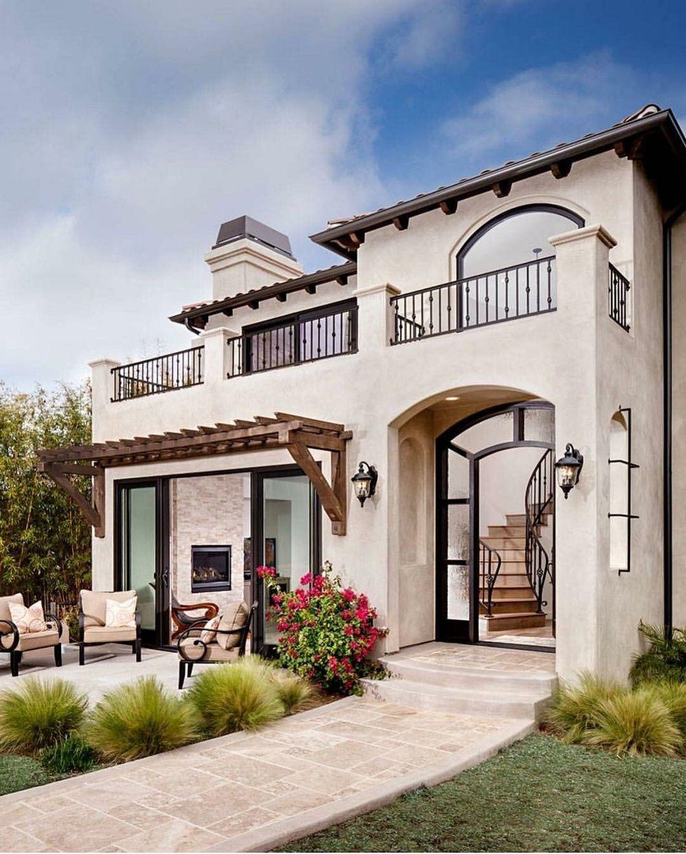 16 Modern Spanish Style Exterior Design Corresponding Our Dream Mediterranean Homes Exterior Spanish Style Homes Mediterranean Homes