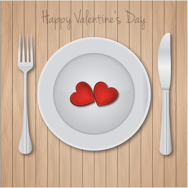 Free Vector Happy Valentines Day Love Dinner Background Http Www