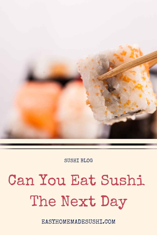 Can You Eat Sushi The Next Day Homemade Sushi Eat Sushi