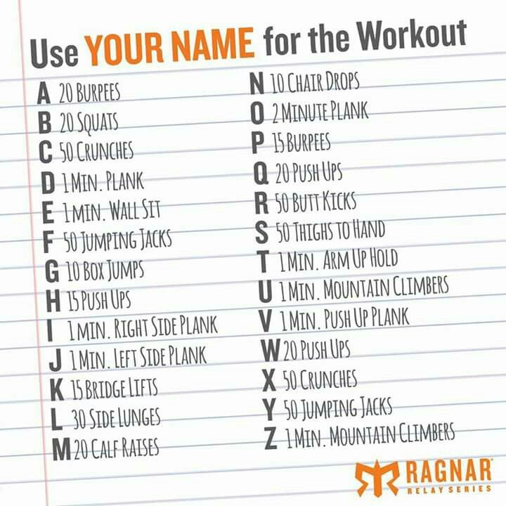 Exercise your name