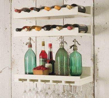 2 estantes vino comedor cocina repisa copero bar laqueado - Estanterias para vino ...