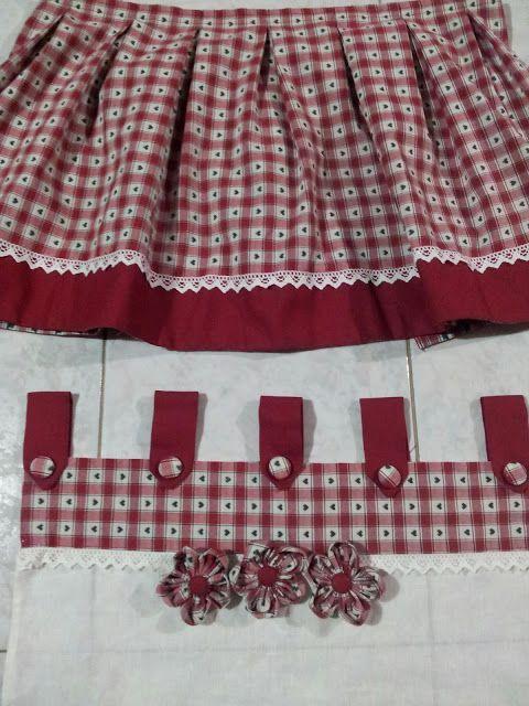 Le creazioni di antonella tendine dietrovetri per cucina con mantovana la mia bacheca nel - Cucito creativo bagno ...