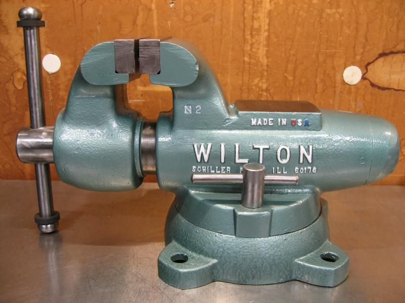 Nice 4 Jaw Width Vise Wilton 400s Restore The Garage Journal Board Wilton Bench Vises