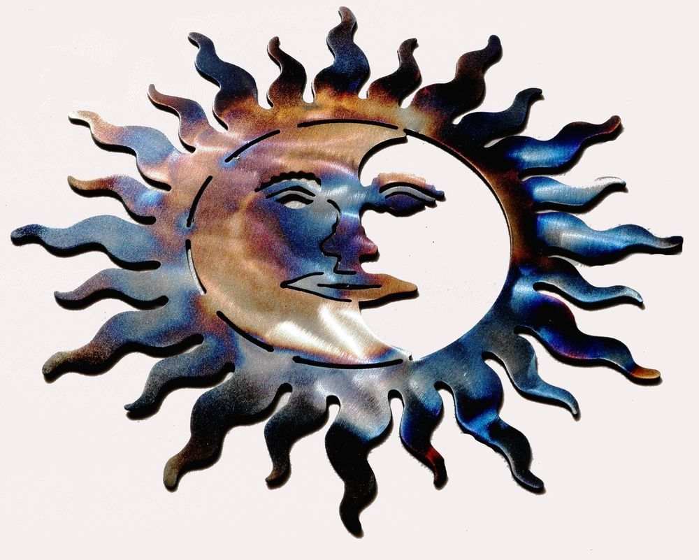 Sun Metal Wall Art sun moon torched metal sculpture wall art home decor | torches and