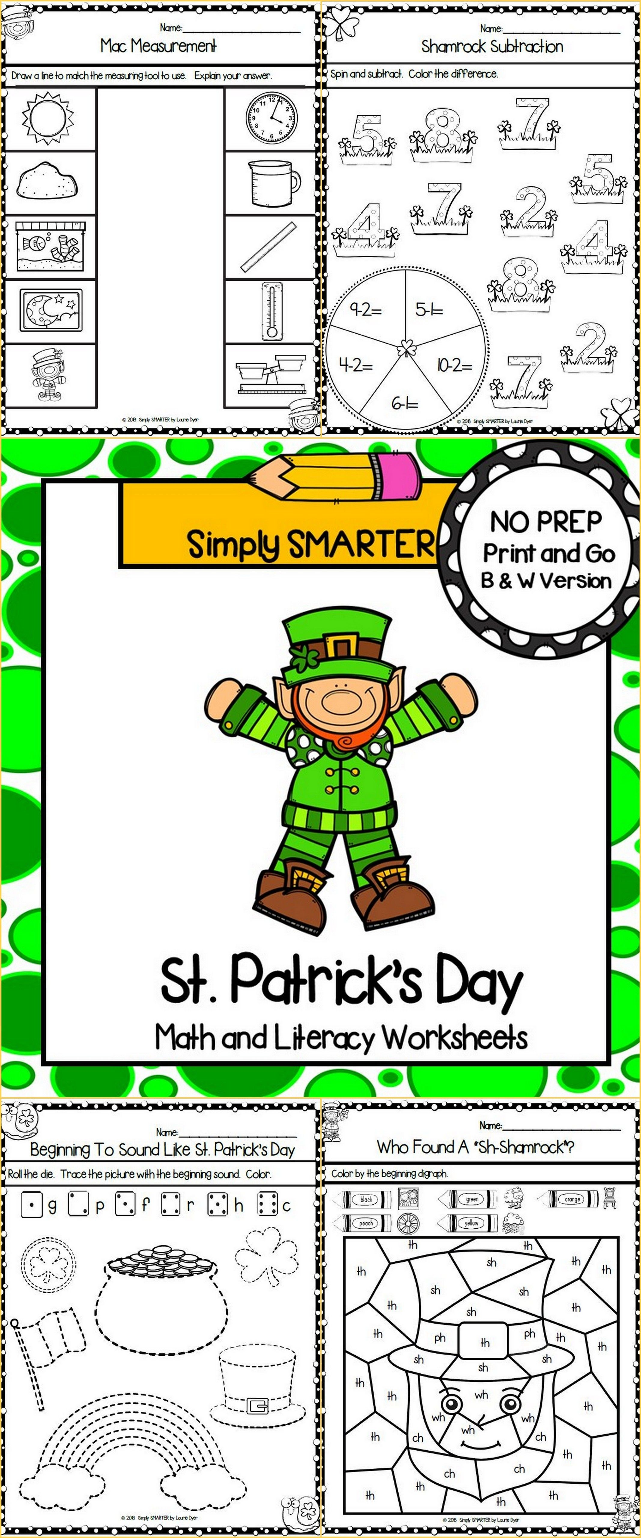 St Patrick S Day Kindergarten Math And Literacy