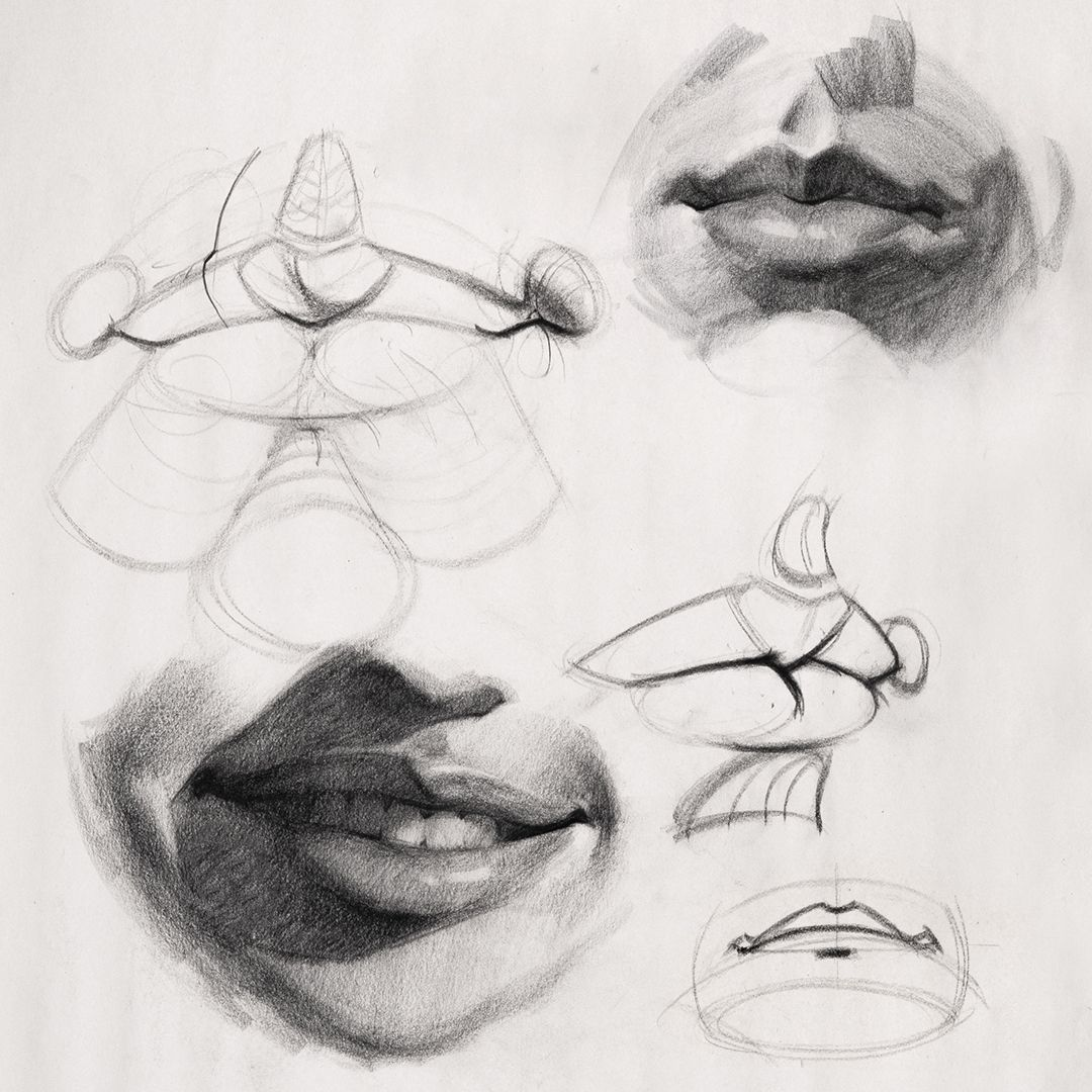 How to Draw Lips – Anatomy and Structure | Portrait Drawing ...