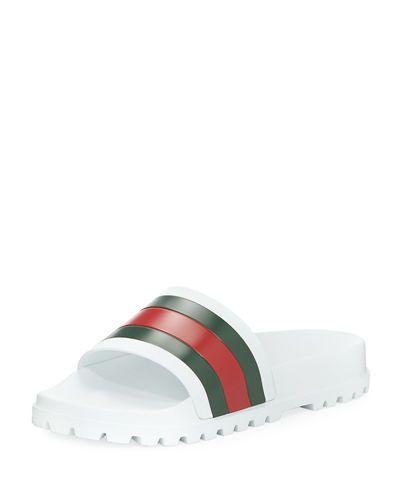 80ee6c4e77e GUCCI PURSUIT TREK WEB SLIDE SANDAL.  gucci  shoes