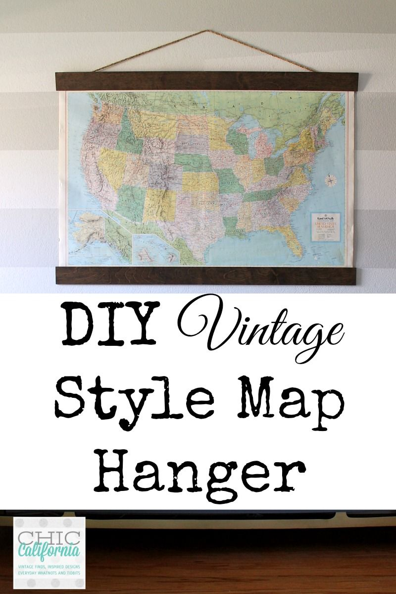 Diy vintage map hanger vintage maps bright colours and hanger wouldnt it be cool to have a world map bracketed in really really gumiabroncs Image collections