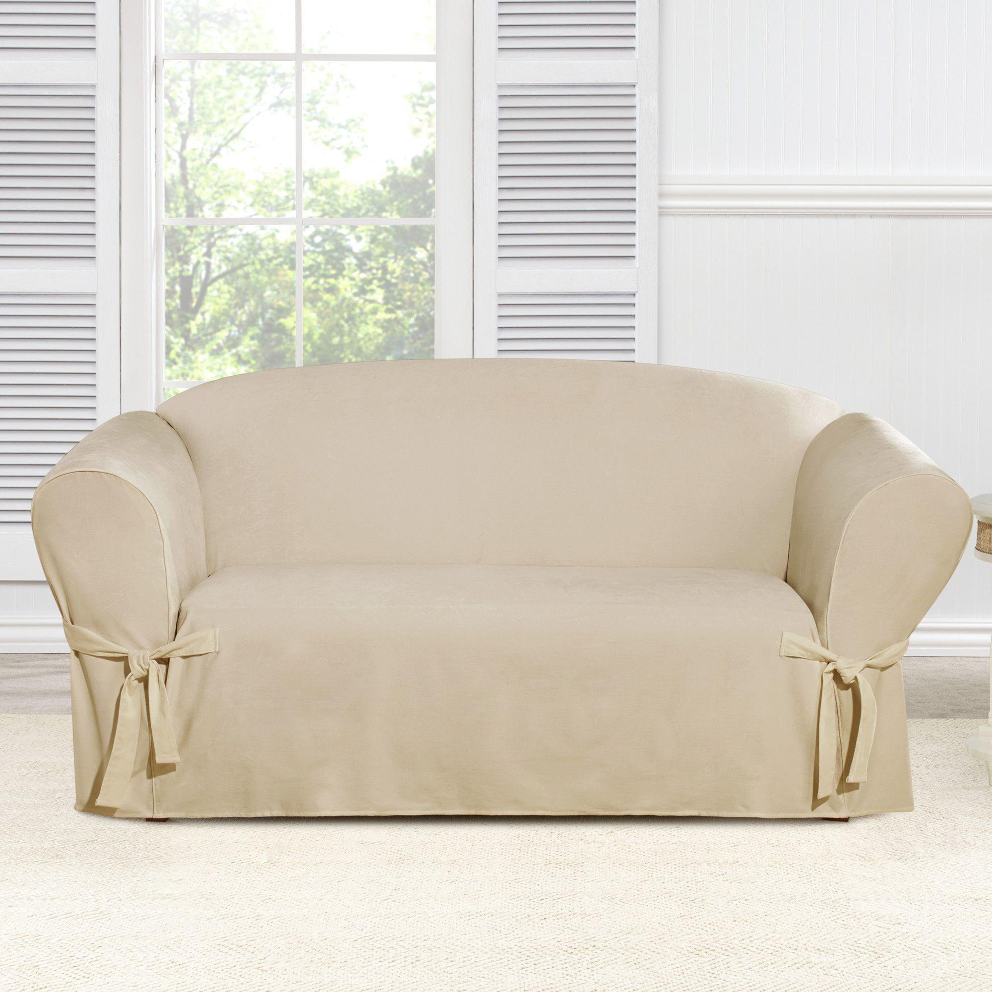 Amazing Everyday Chenille Box Cushion Loveseat Slipcover Products Uwap Interior Chair Design Uwaporg
