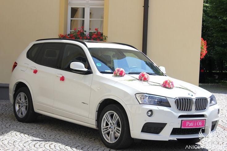 16. Pink Wedding,Car decor / Różowe wesele,Dekoracje weselne,Dekoracje samochodu,Anioły Przyjęć