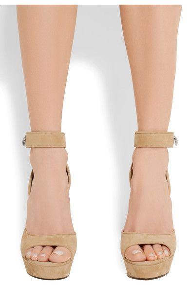 d6508bb796a Givenchy - Shark Lock Suede Platform Sandals