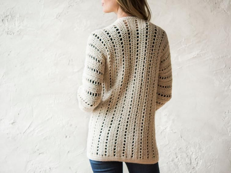 Sporty One Piece Cardigan Crochet Kit Seelenwärmerponcho Jacken