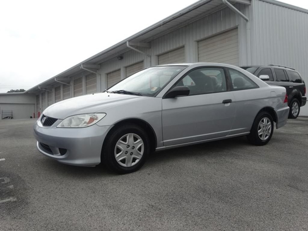 Nice Used 2005 Honda Civic Coupe VP For Sale In Lakeland   OkCarz Lakeland    Lakeland Florida   1HGEM21105L073910