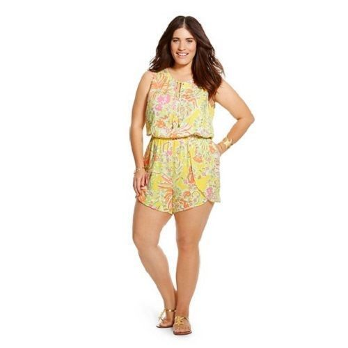 3f778f6afd6 Lilly Pulitzer for Target Women s Plus Size Challis Romper - Happy Place -  3X -  39.00  LillyPulitzer  Romper  LillyForTarget  BuyMyLilly