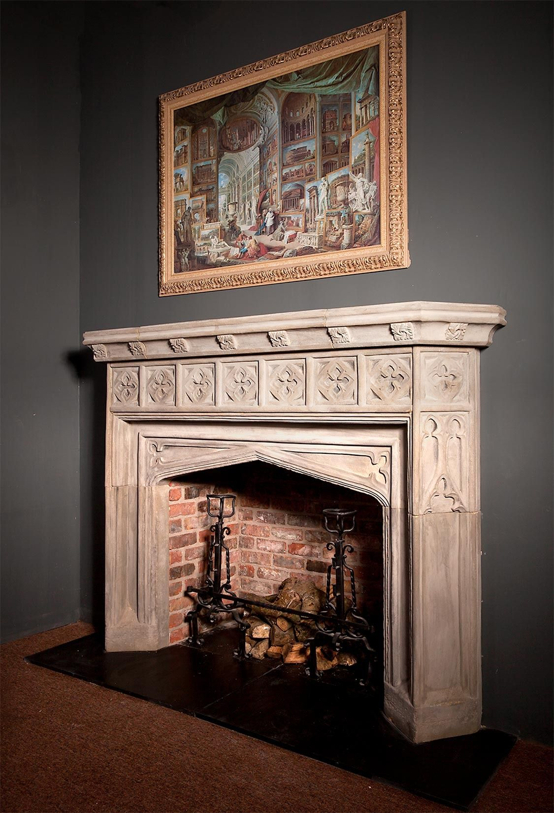 Photo of Antique and Vintage Fireplaces and Mantels – 5,410 For Sale at 1stdibs