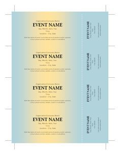 free ticket template free printables pinterest ticket template