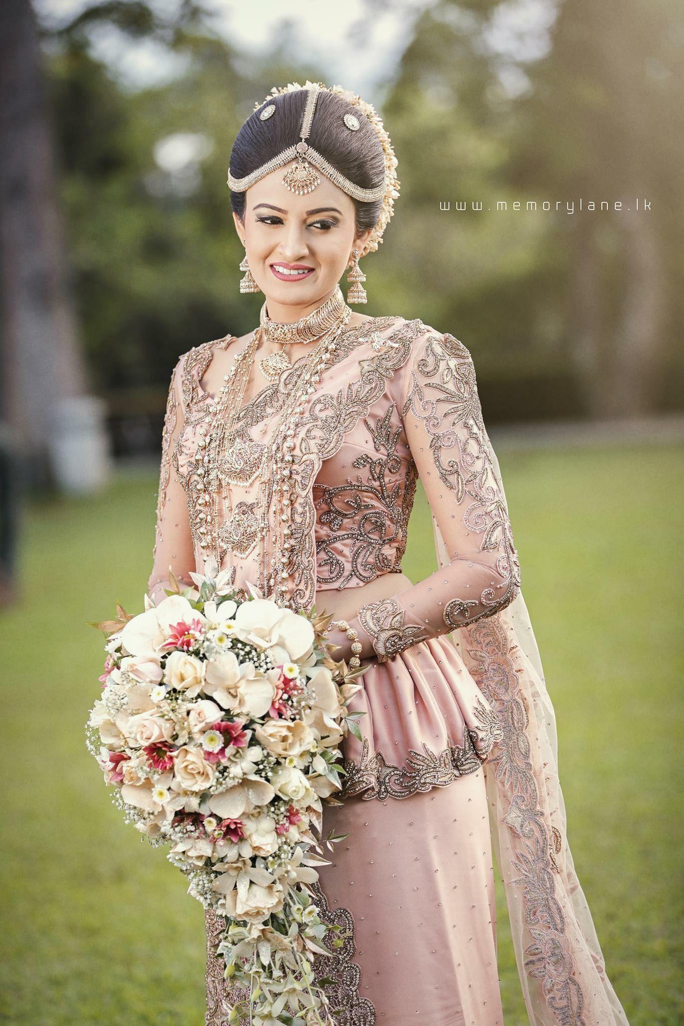 Pin by my sri lankan wedding on bridal saree designs for Sri lankan wedding dress
