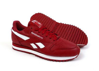 4eaca8cef3df01 Reebok Classic Leather Ripple shoes sneakers for men - Flash Red   White   FOLLOWITFINDIT