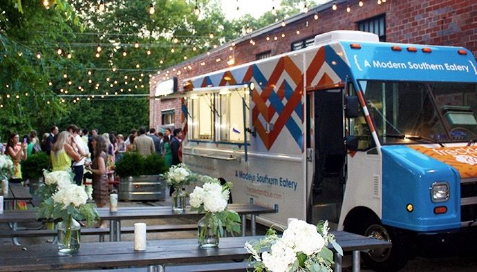 8 unconventional wedding reception ideas food truck pinterest just an idea for set up if we had a food truck junglespirit Choice Image