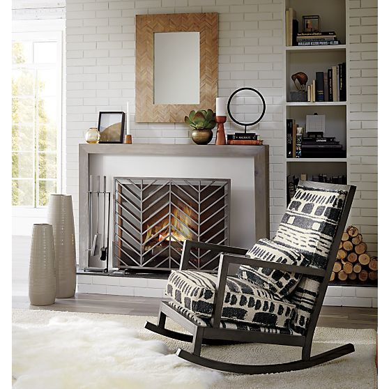 Jeremiah Fabric Back Rocker | Crate and Barrel | Living Rooms ...