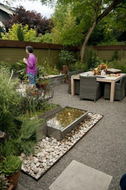 Gartenbepflanzung mit kies  sitzecke garten kies,34 ideen fr gartengestaltung mit kies ...