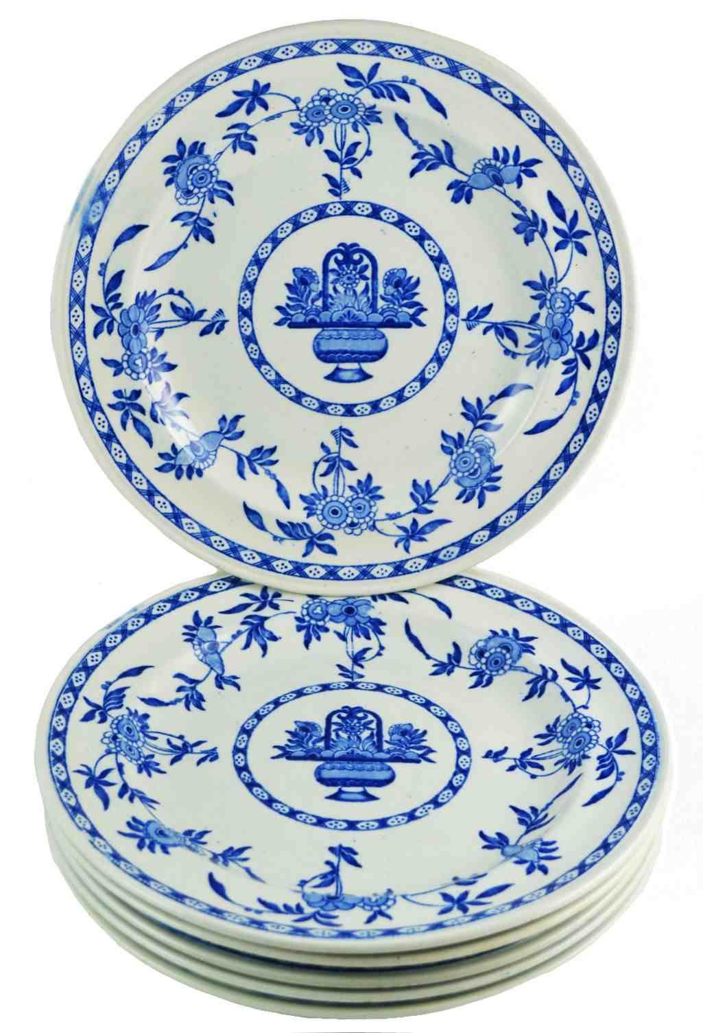 Six Blue \u0026 White English Delft Dinner Plates Early Century  sc 1 st  Pinterest & T.G. Green collection of \u0027Delft\u0027 Dinner Plates | Delft (D1081 ...