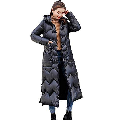 d3310346af Forthery Clearance Womens Hooded Warm Coat Winter Fleece Lined Long Puffer  Jacket(Black, US Size M = Tag L) Best Winter Coats USA