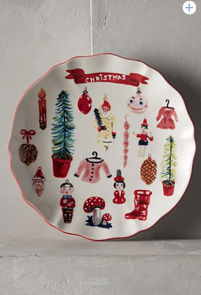 Anthropology.  Great Christmas plate.