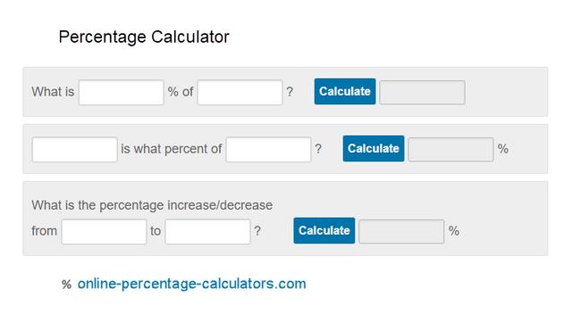 Online Percentage Calculators That Allow You To Calculate The Percentage In 2020 Calculators Percentage Online Calculator