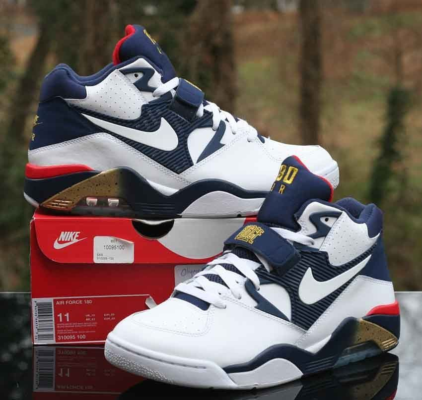 Nike Air Force 180 Charles Barkley White Blue Red Gold