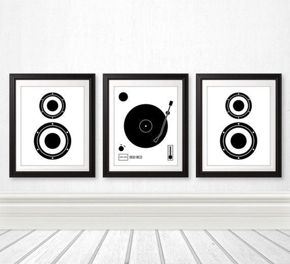 Vinyl Record Speaker Set, Vinyl Print, Wall Art, Home Decor, Music Print Part 40