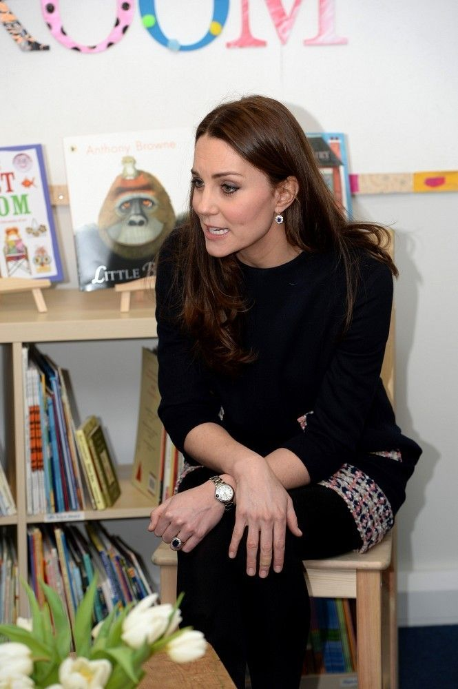 Catherine, Duchess of Cambridge enjoys a visit to Barlby Primary School on January 15, 2015 in London, England.