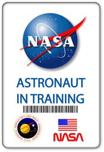 Name Badge Halloween Costume Prop Nasa Astronaut In Training Magnetic Back Space Classroom Nasa Nasa Party