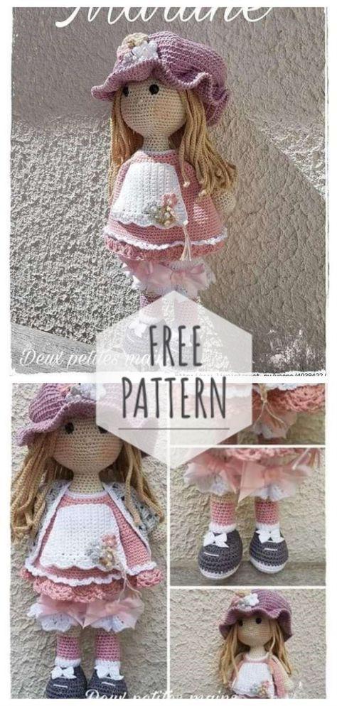 Куколки Adrienne Verstraten &l   Crochet dolls, Knitted dolls ...   994x474