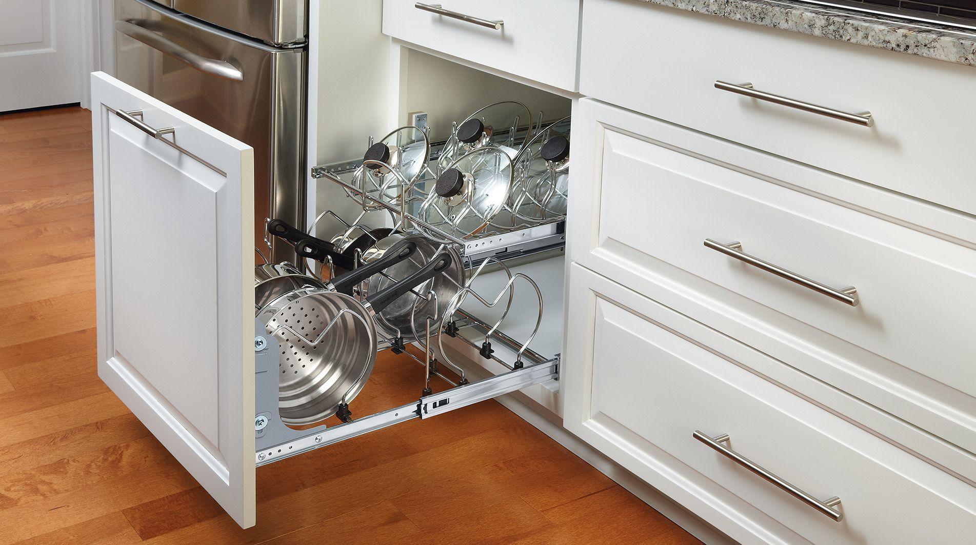 Two Tier Cookware Organizer In 2020 Cookware Organization