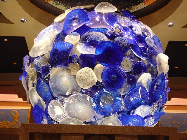Chihuly in Atlantis Casino - blue moon?
