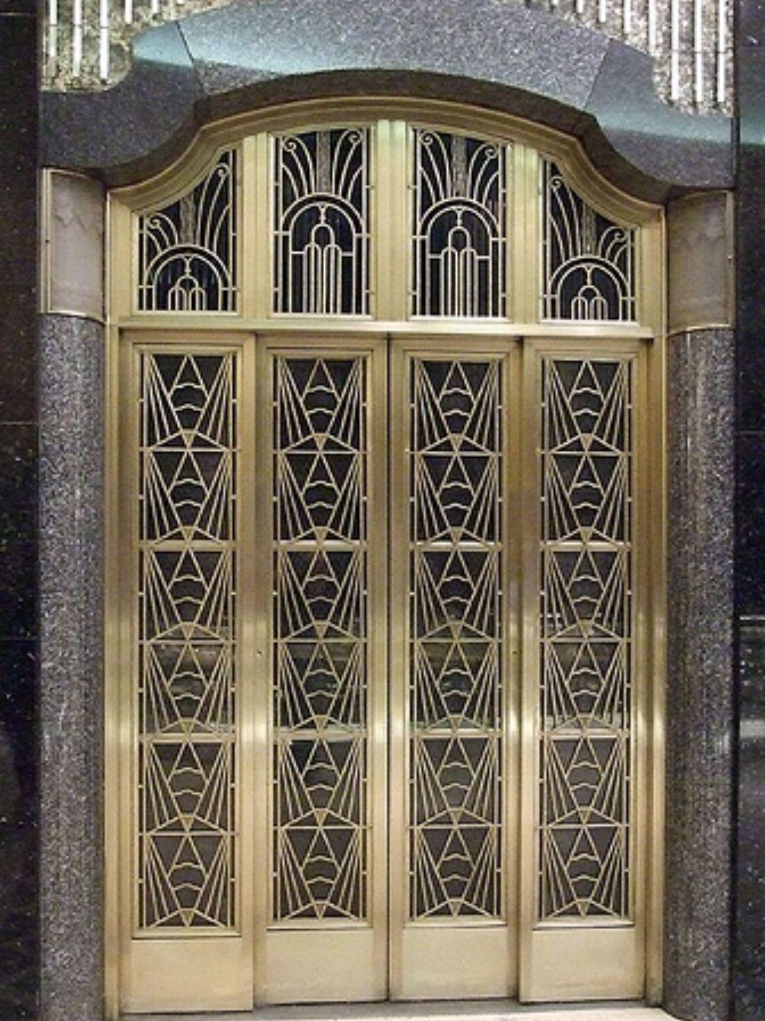 Art deco elevator door abraham and strauss department store