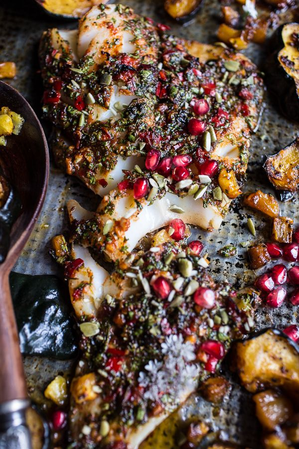Slow Roasted Cod With Brown Sugar Pineapple Glazed Acorn Squash