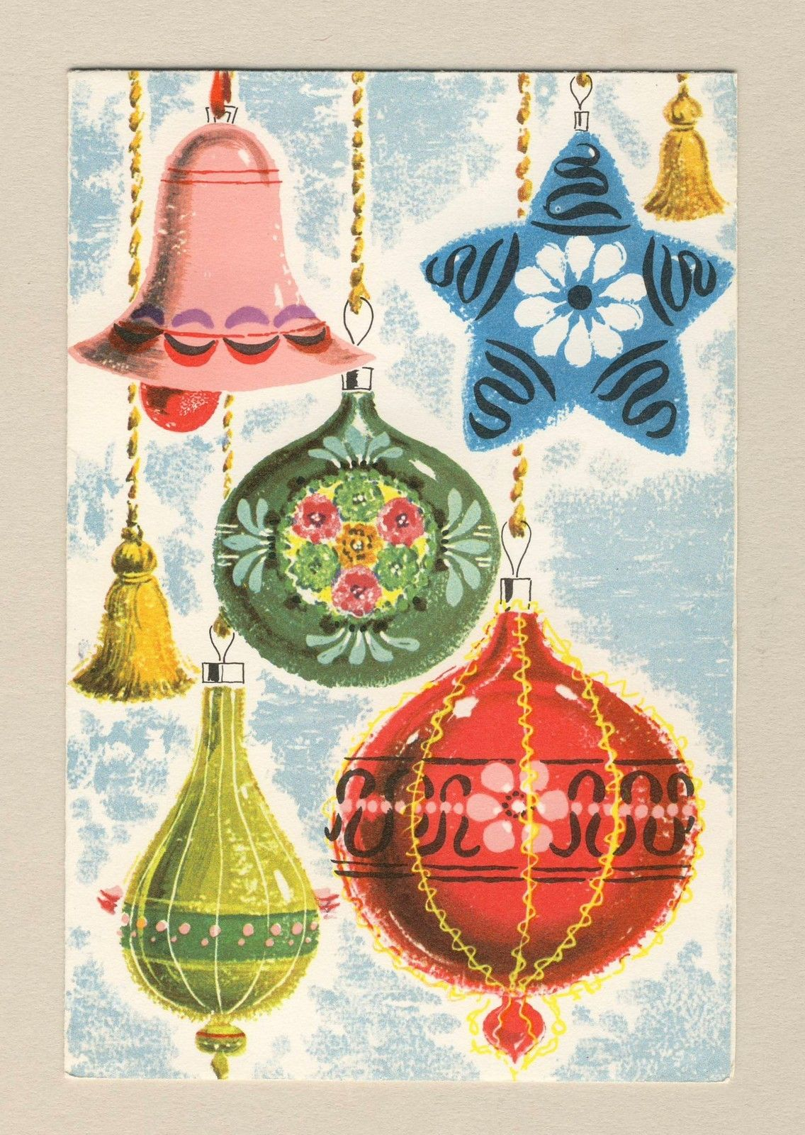 vintage christmas card christmas ornaments ebay more