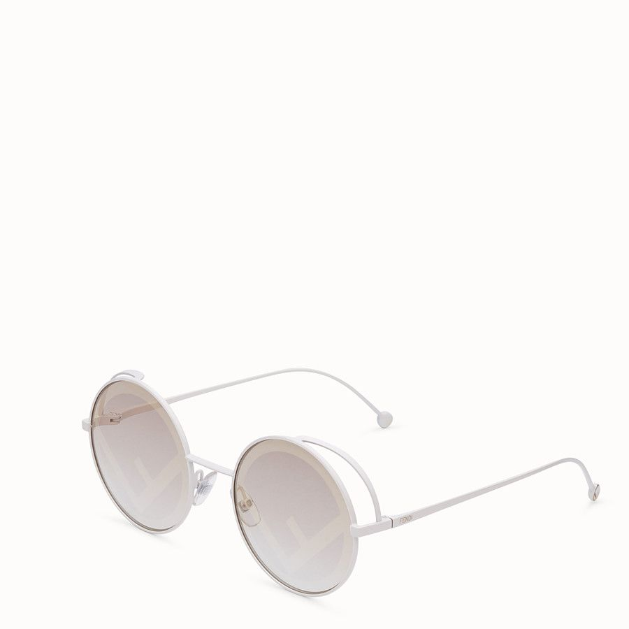586762e6b5 FENDI FENDIRAMA - White sunglasses - view 2 detail | WishList in ...