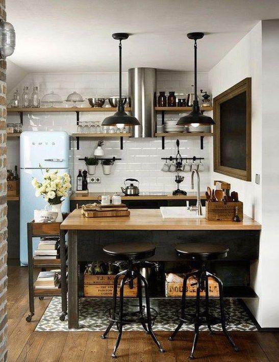 Industrial Small Kitchen 20 Kitchen Inspirations Kitchen Design Modern Kitchen