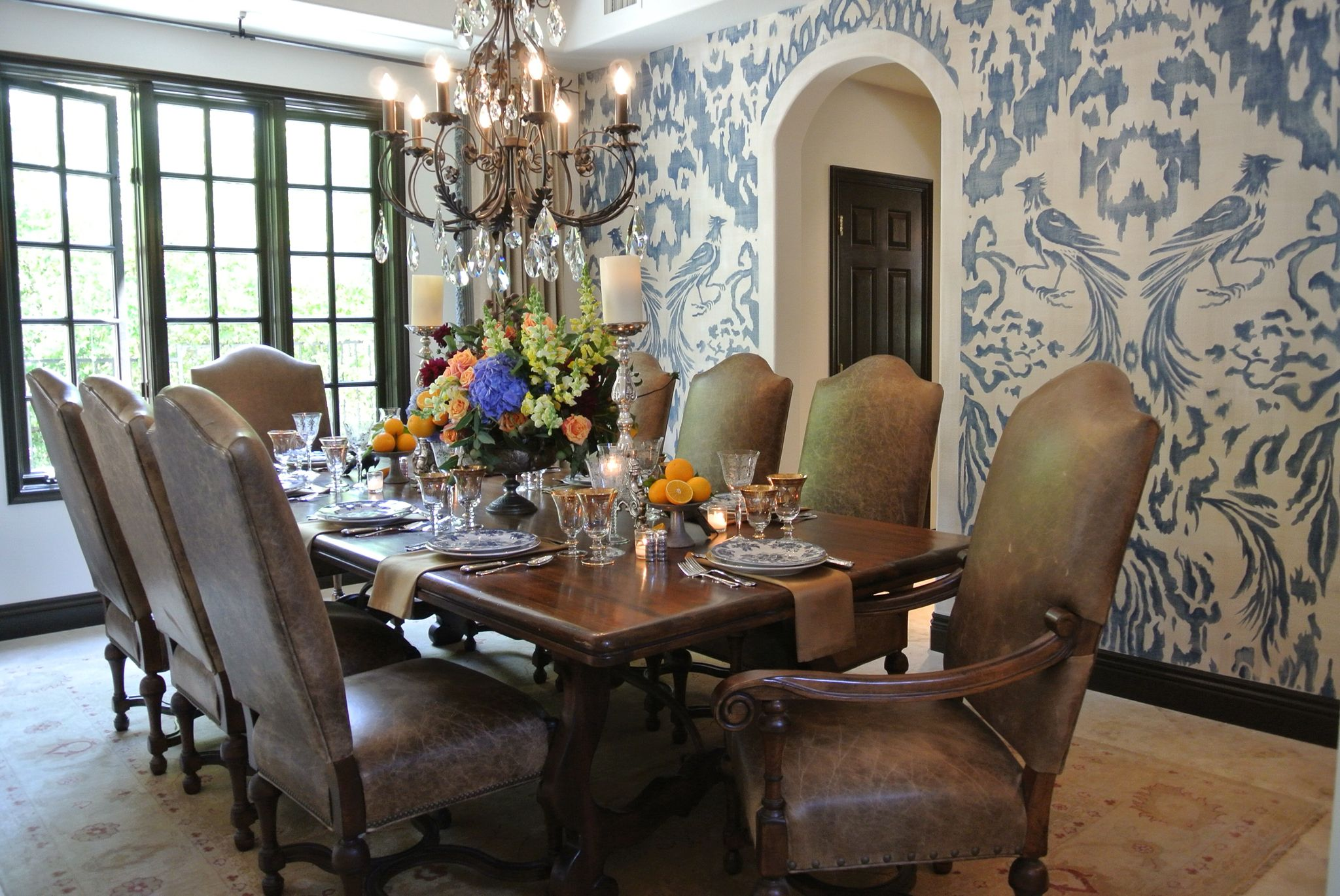 Spanish Dining Room Interior Design By Leanne Michael Luxe Lifestyle