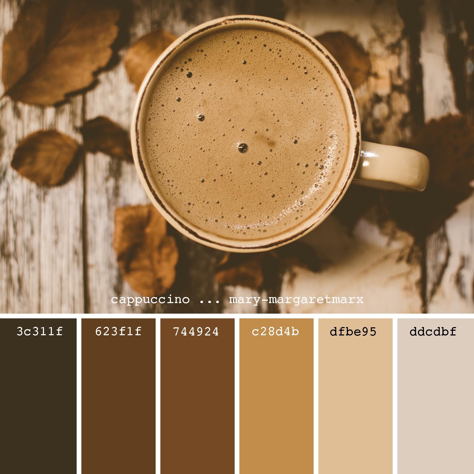 Caramel Cappuccino Color Scheme