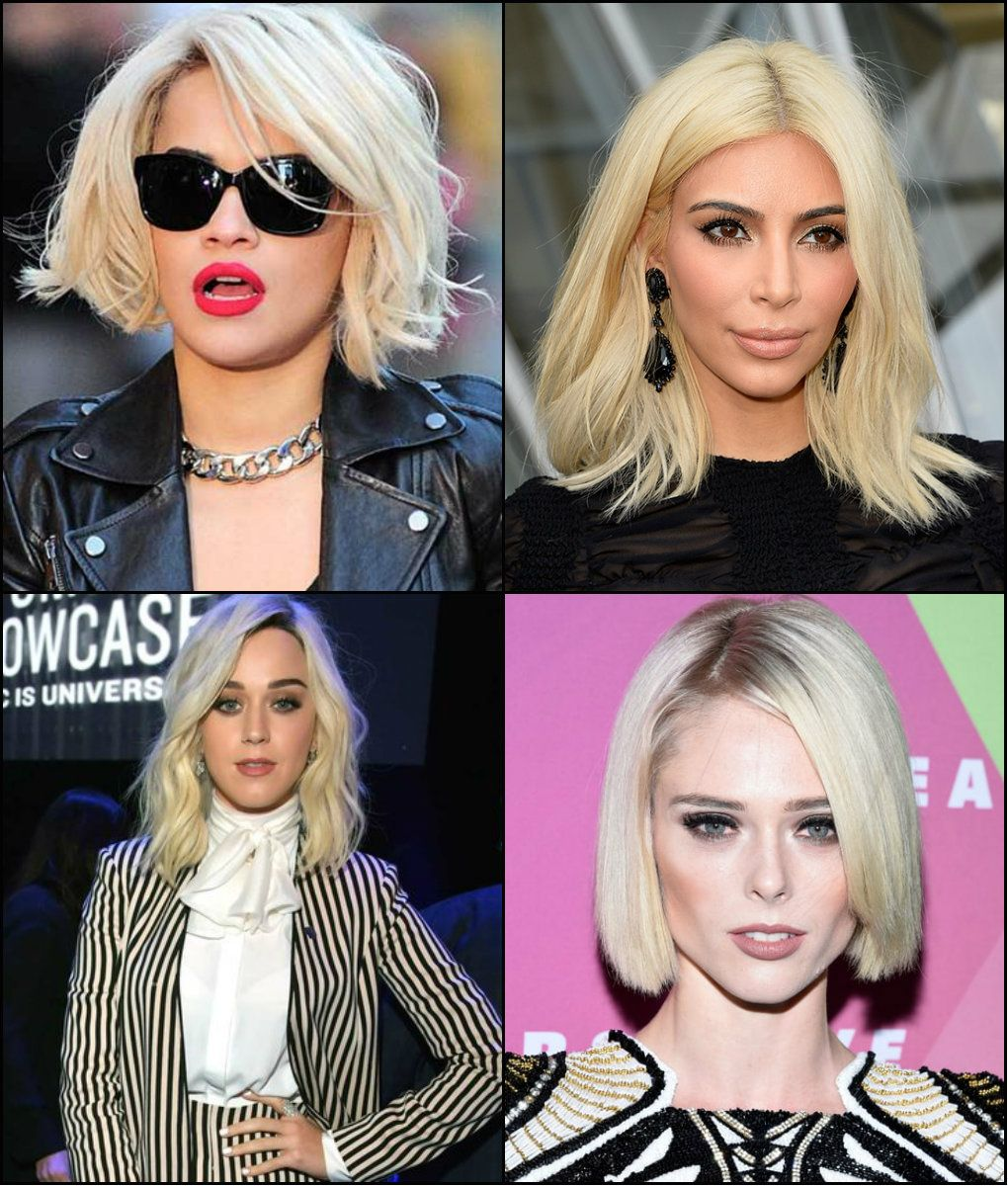 Der Trend Platinum Blonde Bob Frisuren 2017 Hair Blonde